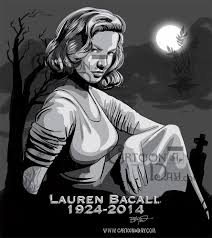 lauren bacall dies gravestone cartoon