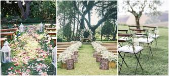 25 rustic outdoor wedding ceremony decorations ideas country