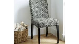 lowe diamond upholstered dining chair crate and barrel
