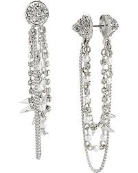 one sided earrings be at fashion s forefront with a pair of edgy front and back