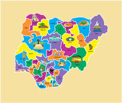 Nigeria State Map by A Map Of Nigeria On Wacom Gallery