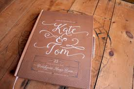 kraft wedding guest book rustic wedding guestbook custom