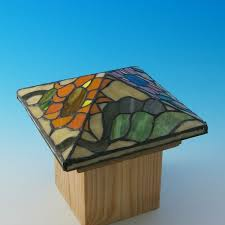 39 best stained glass post caps images on cap d agde