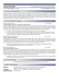 Job Resume Outline by 40 Job Winning Web Developer Resume Samples Vinodomia