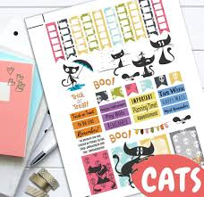 halloween cat fall theme planner weekly sticker kit