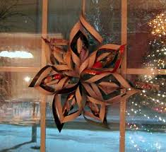 Old Christmas Cards Crafts - super cool easy 6 pointed snowflake 7 steps