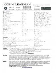 Sample Of Acting Resume by Please Check Here Specially For Acting Resume Example Resume