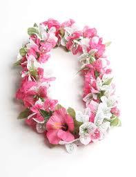 flower leis bougainvillea white pink silk hawaii shaka time hawaii