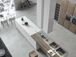 prise pour ilot central cuisine cuisine moderne avec grand ilot central dans un loft par
