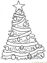christmas tree template free coloring