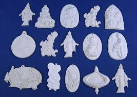 lot of 15 religious paintable ceramic bisque ornaments