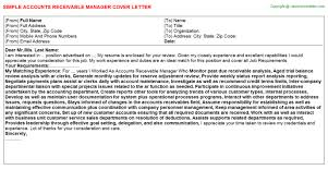 Game Warden Resume Examples by Accounts Receivable Bookkeeper Cover Letters
