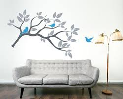 creative easy tree wall paint design artistic color decor top on