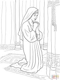 coloring pages kids hannah prays for son coloring page bible