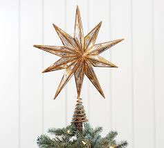 moravian tree topper gold mirrored tree topper pottery barn
