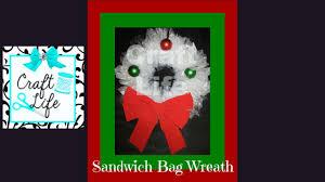 halloween sandwich bags craft life easy plastic sandwich bag christmas wreath tutorial