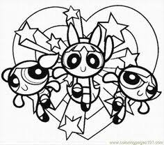 lovely powerpuff girls coloring color luna coloring