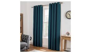 Asda Nursery Curtains Cotton Lined Curtains Teal Home U0026 Garden George