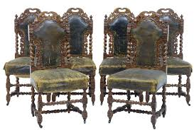 Gothic Dining Room Furniture Set Of 6 2 19th Century Victorian Carved Oak Gothic Dining Chairs