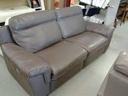 Italian Leather Recliner Sofa Natuzzi Julius Taupe Italian Leather Power Reclining Sofa Home