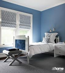 Blue And Gray Bedding Gray And Blue Boy Bedroom With Monogram Bedding Contemporary