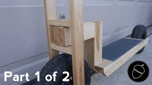 How To Build A Wooden Table How To Build A Wood Scooter Part 1 Of 2 Youtube
