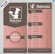 restaurant menu template restaurant menu template vector free