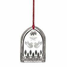 lismore 12 days of christmas two turtle doves ornament 2015