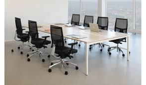 White Meeting Table New Boardroom Furniture In Bradford U0026 Leeds Office Set Up