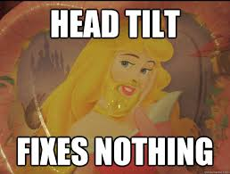 Head Tilt Meme - head tilt fixes nothing girl of my dreams quickmeme