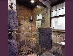 slate tile bathroom ideas steam walk in shower designs intricate slate tile work and a