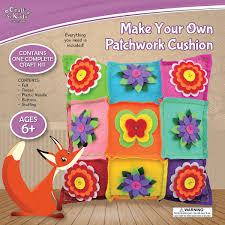 make your own patchwork cushion by craft for kids u2013 daves deals