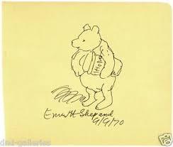 winnie pooh original shepard drawing signed
