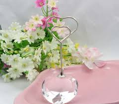 bridal bouquet holder table clip 10pcs heart crystal name number menu table place card holder clip