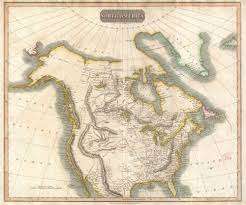 Labelled Map Of North America by File 1814 Thomson Map Of North America Geographicus