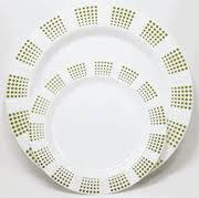 Decorative Plastic Plates Disposable China Plates 10 Inch Plastic Plates Trimmed With Gold