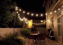 Patio String Lights by String Lights Backyard For Your Own Home Way Trend Light