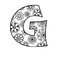 letter g alphabet flowers svg jpeg png pdf use with