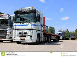 renault truck magnum white renault magnum 500 truck editorial photography image 32343412