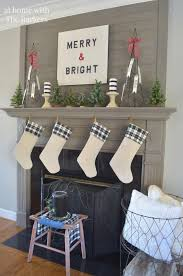 White Christmas Mantel Decorations by Christmas Mantel At Home With The Barkers