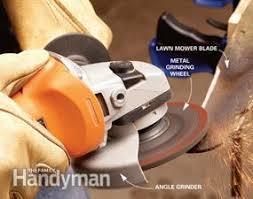 Bench Grinder Knife Sharpener Sharpen Your Lawn Mower Blade Family Handyman