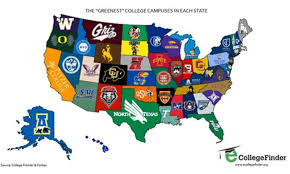 Virginia Tech Campus Map by Which Is The Greenest College Campus In Your State Ecowatch