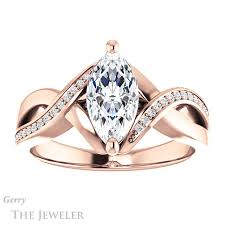 marquise cut engagement rings marquise cut engagement ring setting gtj1126 marquise r gerry