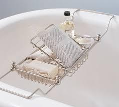 adjustable bathtub caddy mercer bathtub caddy pottery barn