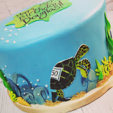 nashville sweets ocean sea turtle running a race cake