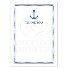 nautical thank you cards nautical baby shower thank you card with anchor and rope border