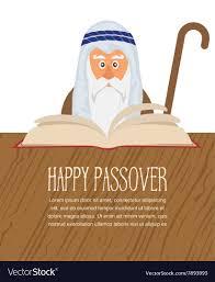 santa haggadah moses reading passover haggadah royalty free vector image