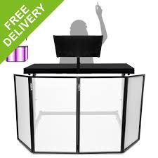 Dj Table Stand Dj Mixing Console Table Stand W Vonyx Foldable Lighting Screen 4
