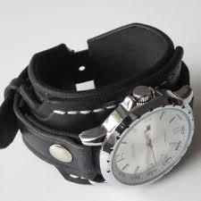 leather strap bracelet watches images Men 39 s leather cuff watch bracelet from loversbracelets on jpg