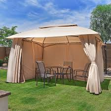 patio gazebo canopy outdoor patio gazebo 284 meter deluxe strong outdoor garden